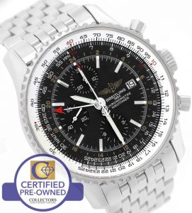 MINT replica Breitling Navitimer World GMT Stainless Black
