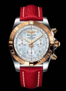 breitling chronomat replica 18k rose gold