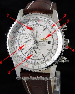 copy breitling navitimer stainless chronograph watch
